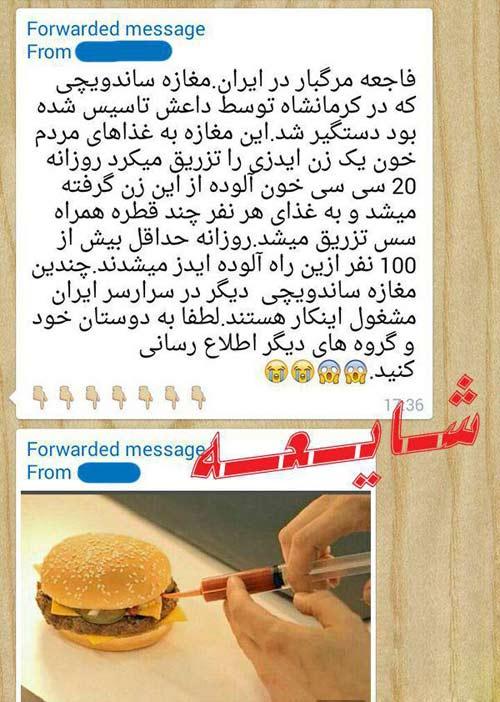 جزئیات دستگیری ساندویچ فروش داعشی در کرمانشاه (عکس)