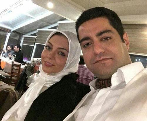 عکس جالب شب جمعه آزاده نامداری و همسرش