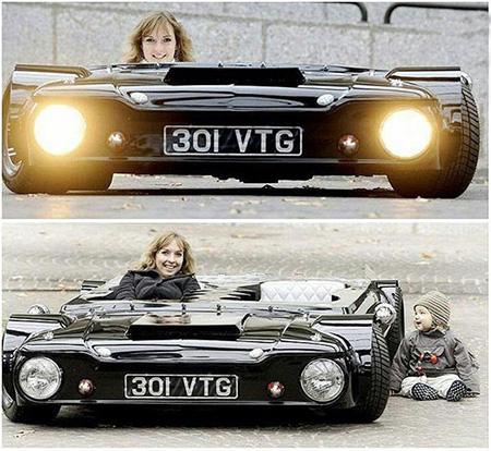 عکسی بسیار جالب از باریک ترین اتومبیل جهان