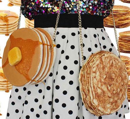هنرمندی که با غذا کیف های زنانه می سازد (عکس)