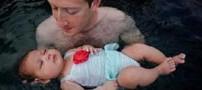 اولین عکس مالک فیسبوک با دختر 2 ماهه اش در استخر