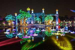 پارک دیدنی و جالب ماکت های نوری در دبی (عکس)