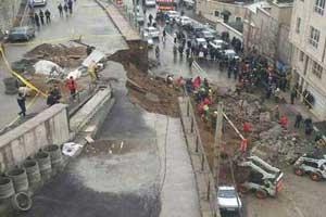 مرگ دلخراش بر اثر رانش زمین در دارآباد (عکس)