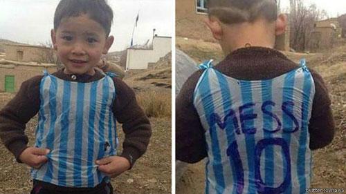 مسی خواستار کمک کردن به کودک افغانی است (عکس)