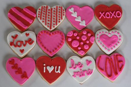 زیباترین تزیینات کوکی و شیرینی برای ولنتاین