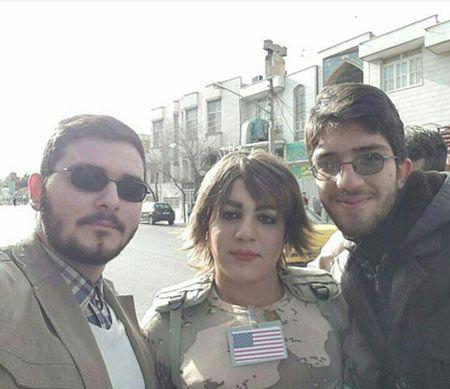 شناسایی زن تروریست آمریکایی در راهپیمایی قم (عکس)
