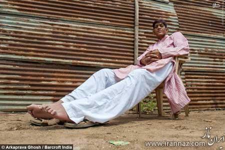 مرد 3 متری که هیچ دختری با او ازدواج نمی کند (عکس)