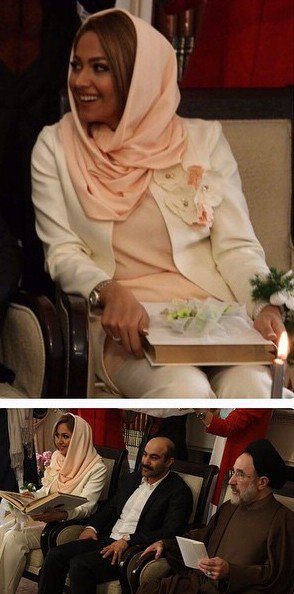 تصاویر جشن عقد محسن تنابنده و همسرش
