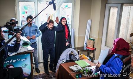 عکس های بازیگران در پشت صحنه سریال غیر علنی