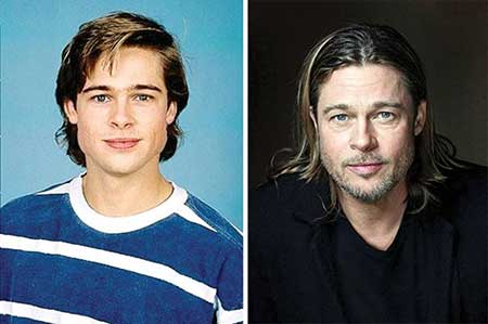 تاثیر زمان بر چهره ستارگان مشهور دنیا (عکس)