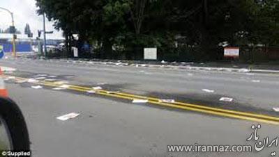 خیابانی که با تصاویر مستهجن دختران پوشانده شد (عکس)