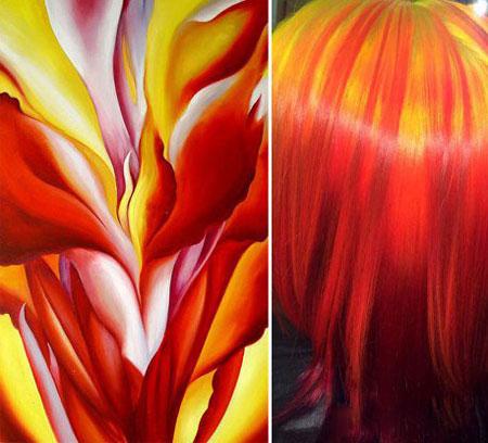 مشهور شدن زنی با رنگ موی خاص و زیبایش (عکس)