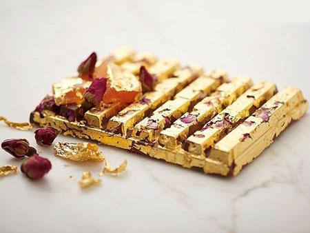 غذاهایی که از طلای واقعی تهیه شده اند (عکس)