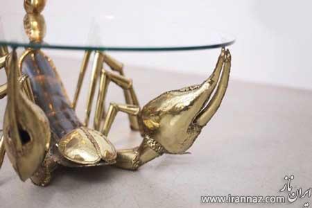 عکس های دیدنی از میزهای ساخته شده شبیه جانوران
