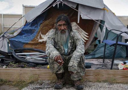 تصاویری اسفبار از وضع زندگی بیخانمانهای آمریکا