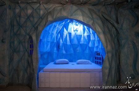 هتلی رویایی با عجیب و غریب ترین اتاق ها (عکس)