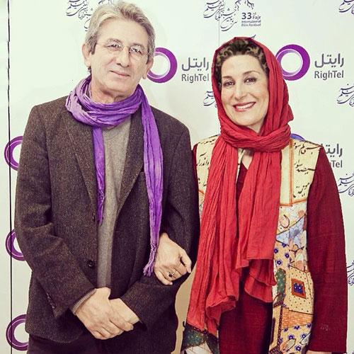 تیپ فاطمه معتمد آریا و همسرش در جشنواره فیلم فجر (عکس)