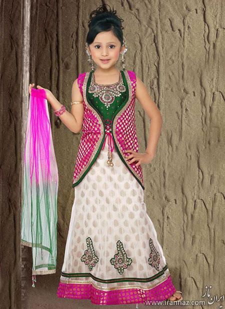 خوشگلترین مدل لباس های مجلسی هندی بچگانه