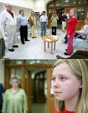 دختری که چشمانی شبیه دستگاه سونوگرافی دارد (عکس)