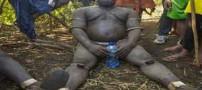 مسابقه جالب چاق ترین مردان در یک قبیله (عکس)