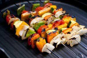 غذای رژیمی کباب سبزیجات یونانی برای گیاهخواران