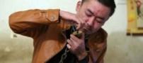 روش عجیب و باورنکردنی مرد معتاد برای ترک کردن (عکس)
