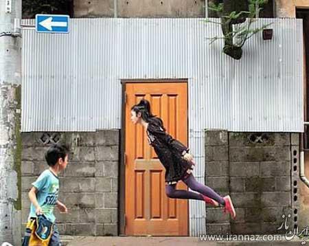 دختر عجیبی که پرواز می کند (عکس)