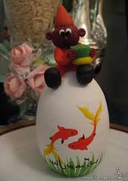 تصاویر مدل تزیینات تخم مرغ حاجی فیروز برای نوروز