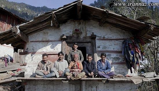زندگی باورنکردنی و همزمان این زن با پنج شوهر (عکس)