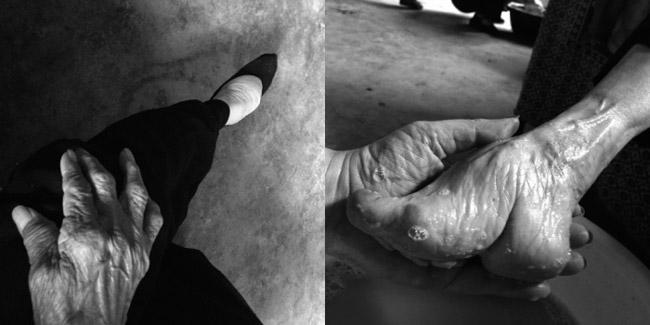 عکس های باورنکردنی از زنان پا کوچک در چین!!