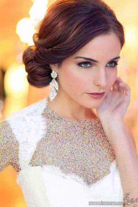 عکسهایی از زیباترین مدل مو عروس سبک اروپایی