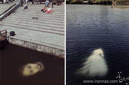 نقاشی های هنری و زیبا زیر آب (عکس)