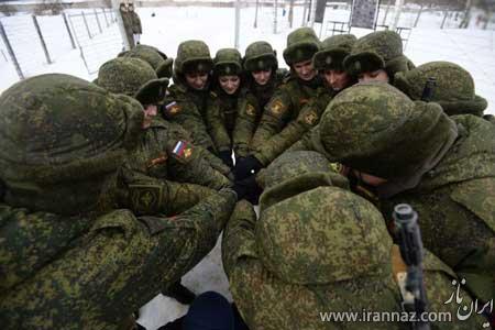 تصاویر دیدنی از رزمایش زنان زیبای ارتش روسیه