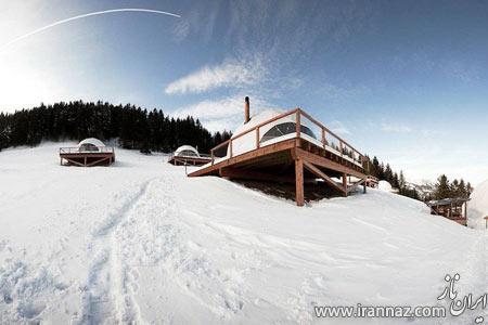 ساخت هتلی جالب و دیدنی روی کوه های آلپ (عکس)
