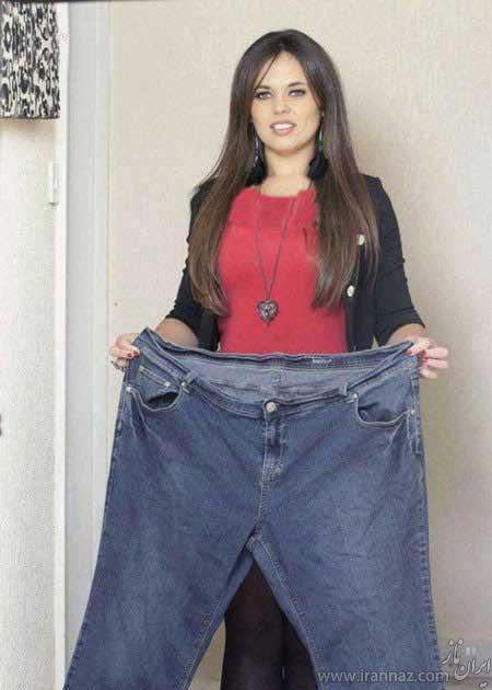 کاهش وزن باورنکردنی این خانم (عکس)