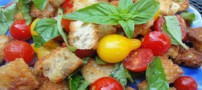 چگونه با نان و دانه های سویا سالاد جدیدی درست کنیم؟