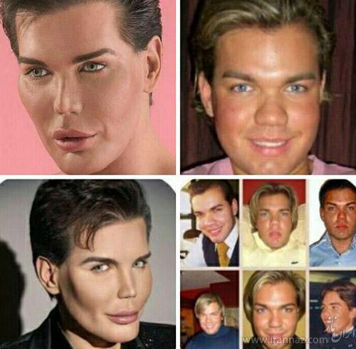 چهره عجیب این مرد که شبیه عروسک است (عکس)