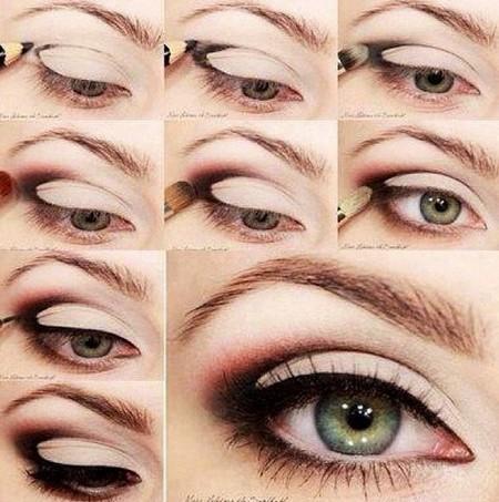 تصاویری از آموزش آرایش چشم به همراه تصویر