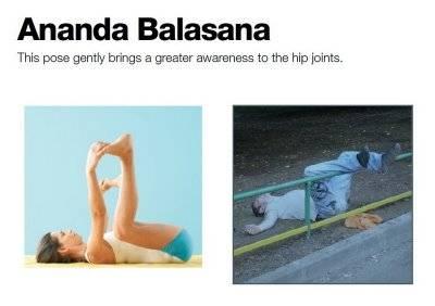 تصاویر طنز: مشروبخواران و حرکات یوگا