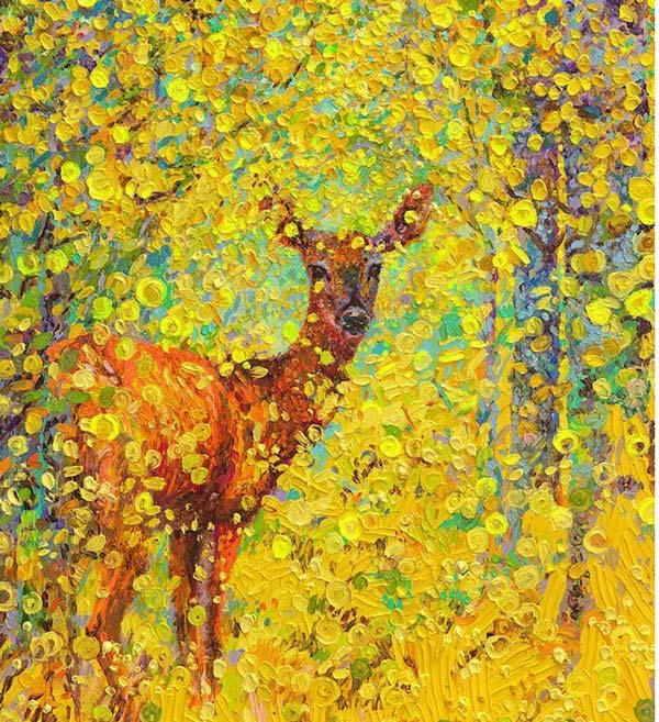نقاشی های باور نکردنی و زیبا با اثر انگشت