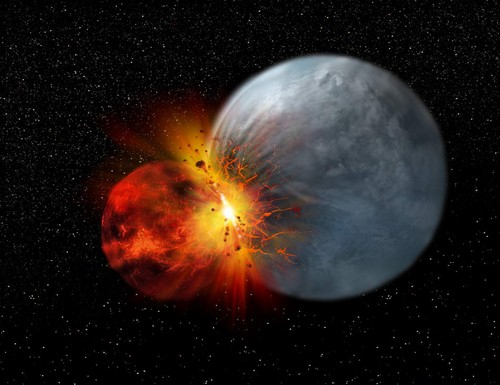 نگاهی جدید به شکل گیری ماه