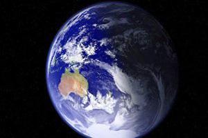 به تصویر کشیدن حقارت زمین در برابر آسمان