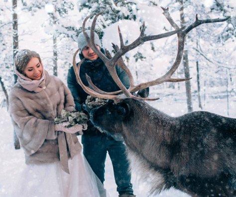 ازدوان این دو عاشق در سرمای منفی 40 درجه (عکس)