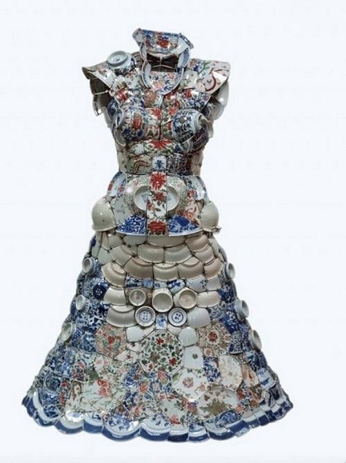 لباس هایی از جنس چینی و سرامیک (عکس)