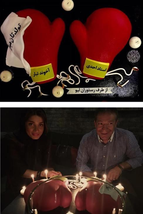 کیک تولد تینا آخوندتبار بازیگر ایرانی (عکس)