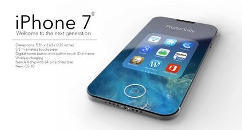 آیفون 7 همراه با بدنه ی شیشه ای