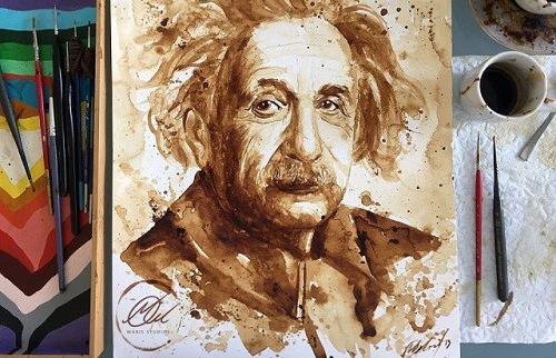 عکس هایی از نقاشی های باورنکردنی با قهوه