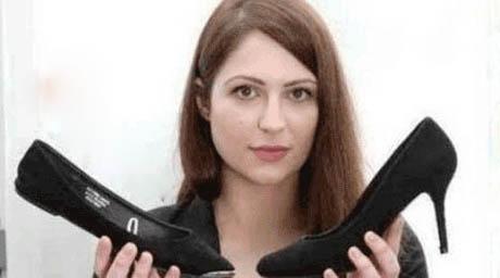 اخراج شدن بخاطر نپوشیدن کفش پاشنه بلند (عکس)