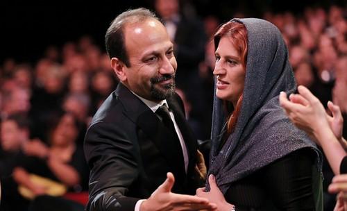 اصغر فرهادی برنده ی جایزه بهترین فیلمنامه کن شد (عکس)
