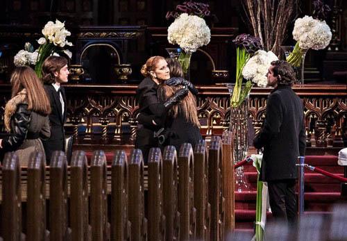 عکس هایی از مراسم تشییع همسر سلن دیون